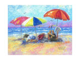 At the Beach I Poster by Vickie Wade