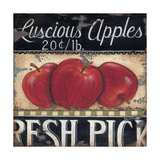 Luscious Apples Print by Kim Lewis
