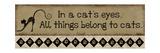 In a Cat's Eyes Poster van Jennifer Pugh