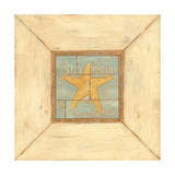 Starfish on Blue Poster by Stephanie Marrott