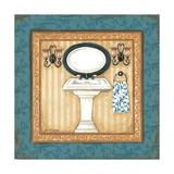 Blue Slipper Bath II Prints by Jo Moulton