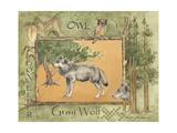 Gray Wolf Print van Anita Phillips