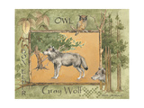 Gray Wolf Print by Anita Phillips