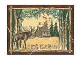 Log Cabin Moose Poster by Anita Phillips