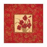 Callas in Red Premium Giclee Print by Jo Moulton