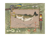 Large Mouth Bass Posters by Anita Phillips