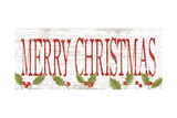 Merry Christmas Print by Kathy Middlebrook