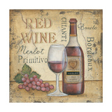 Red Wine Art by Kim Lewis