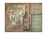 Wine List Poster by Kim Lewis
