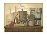 Family Heart Prints by Jo Moulton