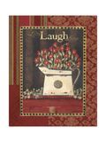Live Laugh Love Print by Jo Moulton