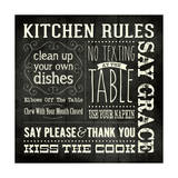 Kitchen Rules - Black Square Posters by Stephanie Marrott