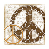 Peace Giraffe Poster by Jennifer Pugh