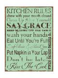 Kitchen Rules Poster von Stephanie Marrott