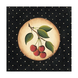 Four Cherries Premium Giclee Print by Kim Lewis