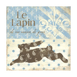 Le Lapin Art by Jo Moulton