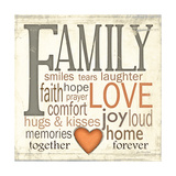 Family Typography Poster by Jo Moulton