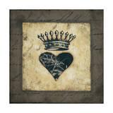 Heart Crown Lámina por Stephanie Marrott