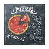 Pizza Premium Giclee Print by Jo Moulton
