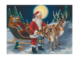 Santa with Lantern Prints by Susan Comish