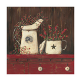 Red Cupboard I Prints by Jo Moulton