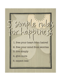 Five Simple Rules Art by Karen Tribett