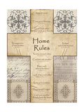 Home Rules Cross Print by Lisa Wolk