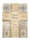 Home Rules Cross Print by Lisa Wolk
