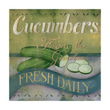 Cucumber Poster by Kim Lewis