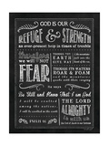 Chalkboard Psalm 46 Prints by Jennifer Pugh