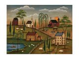 Village Day Prints by Kim Lewis