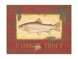 Rainbow Trout Póster por Stephanie Marrott