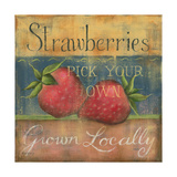 Strawberries Posters by Kim Lewis