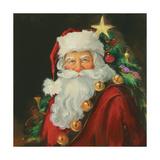 Sparkling Santa Premium Giclee Print by Susan Comish