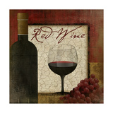 Red Wine Premium Giclee Print by Jennifer Pugh