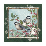 Winter Chickadees Premium Giclee Print by Anita Phillips