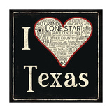Texas Poster by Jo Moulton