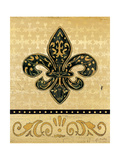 Golden Fleur De Lis Prints by Jo Moulton