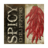 Spicy Chili Peppers Poster by Jennifer Pugh