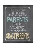 Parents Grandparents Poster by Jo Moulton