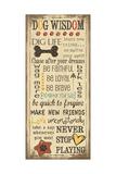 Dog Wisdom Poster von Jo Moulton