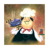 Purple Pot Chef Print by Vickie Wade