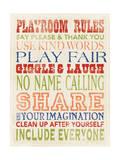 Playroom Rules Kunstdrucke von Stephanie Marrott