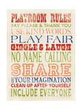 Playroom Rules Prints by Stephanie Marrott