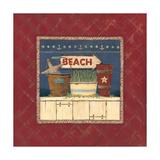 Beach Premium Giclee Print by Jo Moulton