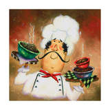Three Bowl Chef Posters by Vickie Wade