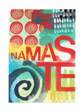 Abstract Namaste Poster by Linda Woods