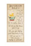 Family Bathroom Rules Art by Jo Moulton