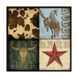 Cowboy 4 Patch I Posters by Stephanie Marrott