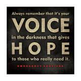 Emergency Services - Voice Lámina por Stephanie Marrott